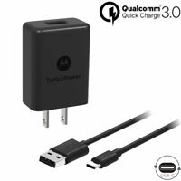 QC3.0 Motorola Turbo Power 15+ Type C to USB Charger for Moto X4 Z2 Force XT1789