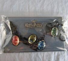 Harry Potter Charm Bracelet NEW Bioworld Hogwarts Houses Slytherin Gryffindor
