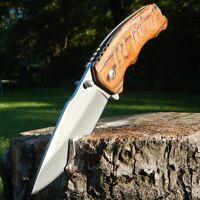 "8"" TAC FORCE SPRING ASSISTED WOOD FOLDING POCKET KNIFE Blade Tactical Switch"