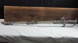 "New 36"" Saint George Dragon Fire Saber Fantasy Medieval Knight Long Sword"