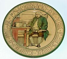 Royal Doulton Plate Ware Dr. Johnson At The Cheshire Cheese 10.5 Inches D3123