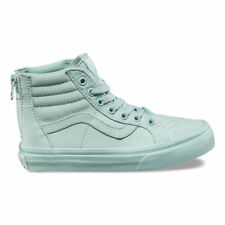 87d602e04f98a5 Vans TODDLER Girls Sk8Hi Zip Sneakers Mono Harbor   Grey Glitter Size 7.5  New