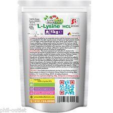 1kg (2.2 lb) L-Lysine Hcl - Kosher & Halal Certified - Free Shipping (P)