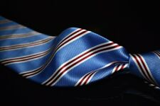NWT Brooks Brothers Stain Resistant English Silk Sky Blue Satin Repp Stripe Tie