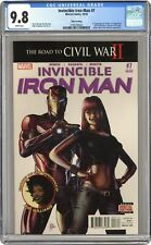 Invincible Iron Man #7D Deodato Variant 3rd Printing CGC 9.8 2016 3785256001