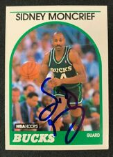 SIDNEY MONCRIEF SIGNED AUTOGRAPHED 1989 NBA HOOPS BASKETBALL CARD #275 W/COA