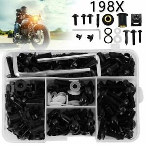 198x Motorcycle Modified Windscreen Alloy Fairing Bolts Fastener Clip Screw Kit