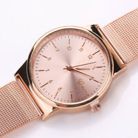 Fashion Womens Classic Gold Quartz Stainless Steel Wrist Watch