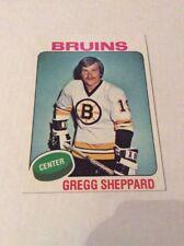 Topps Gregg Sheppard Hockey Card vault blank back