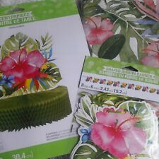 Luau Theme Party Decorations Set; Island Birthday; Bon Voyage Party Decor Set...