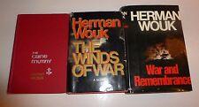Lot of 3 Herman Wouk, World War II Novels HBDJ. 1 First Edition