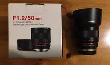 Samyang 50mm f1.2 AS UMC CS Lens Fuji Fujinon Fujifilm X-Mount **Pristine**