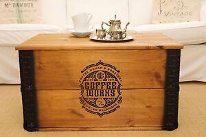 Truhe Couchtisch Holz massiv Wohnzimmertisch Truhentisch Kiste vintage shabby