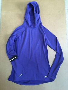Under Armour ColdGear Storm Layered Up Hooded Pullover Purple Medium