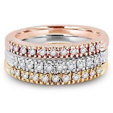 Bandringe mit mehrfarbigem Gold und Diamanten