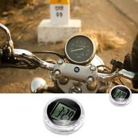 Universal Mini Stick-On Motorcycle Accessory Handlebar Mount Digital Clock Watch