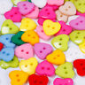 100pcs Heart  Mixed Colors Resin Kids Buttons Fit Sewing Or Scrapbooking 15mm