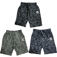 Boys Kids Shorts Fleece Pattern Summer Fashion Black Navy Grey