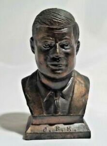 Vintage JFK John F. Kennedy Presidential Bust Mini Metal