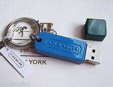 NWT Coach 8GB USB Flash Jump Drive Memory Stick Key Chain Fob Charm Keychain