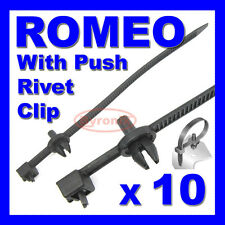 ALFA ROMEO CABLE TIES ZIP TIE WRAP PUSH RIVET CLIP WIRING LOOM HARNESS RELEASE