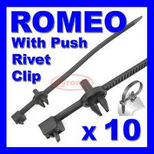 ALFA ROMEO CABLE TIES ZIP TIE WRAP PUSH RIVET CLIP WIRING LOOM HARNESS RELEASE