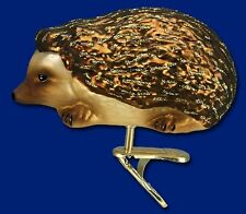 CLIP ON HEDGEHOG OLD WORLD CHRISTMAS BLOWN GLASS WILDLIFE ANIMAL ORNAMENT 12263