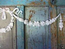 Shabby n Chic Wreath w/ Swags * Cottage Furniture Appliques