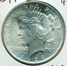 1924-P PEACE SILVER DOLLAR - CHOICE BU