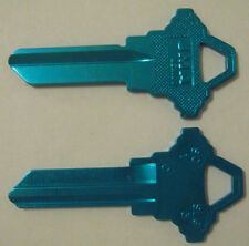 2 LIGHT BLUE BLANK HOUSE KEYS FOR SCHLAGE LOCKS SC1 CAN BE PUNCHED TO YOUR CODE