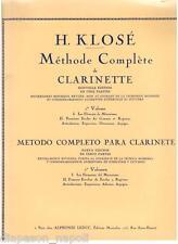 Klosè: Metodo Completo Per Clarinetto - Leduc