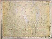 1901 Manitoba Dated Color Map* N. Brun/N. Scotia back