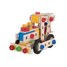 "Eichhorn 39027 Constructor "" Locomotive "" 100-tlg. Wooden Kit New! #"