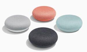 Google Home Mini Smart Speaker - Charcoal - Chalk - Coral - Aqua 1st Generation