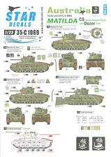 Star Decals 1/35 AUSTRALIAN TANKS IN WW II MATILDA TANK Close Support & Dozer