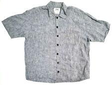 Flax Mens Shirt Size Small Gray
