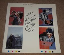 PROOF of DALEK / TROUGHTON / DOCTOR WHO POSTCARDS - SIGNED BY CY TOWN (RARE!)