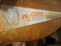 "Vintage Cedar Point Pennant 12""x30"" Sublime Pennants Collector Series L-35-11-A"