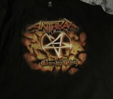 ANTHRAX Worship Music 2 Sided Logo World Tour 2011-2012 T-shirt Size 2XL