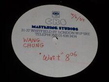 "Wang Chung:  Wait       1984 one sided ACETATE    12"""