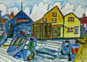 Digital Print of Sheringham Fishing Boats View No 2 by Ann Marie Whitton