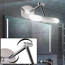 Design LED Wand Glas Strahler Leuchte Bade Zimmer Spiegel Lampe schwenkbar