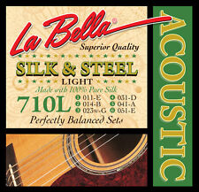 La Bella 710L Silk and Steel Acoustic Guitar Strings light gauges 11-51