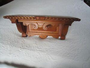 """Vintage Carved Ornate Solid Wood 15"""" WALL SHELF"""