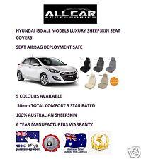 Sheepskin Car Seatcovers Hyundai I30, Seat Airbag Safe, Five Colours.30mm TC