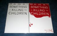 SOMETHING is KILLING the CHILDREN #11 & #12 BLANK variant set BLOODY BOOM NM