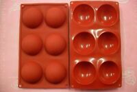 MOULE SILICONE SOUPLE 6 PETITS FOURS / DEMI SPHERE 28 X 16,5 CM