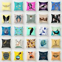 Animal Polyester Pillow Case Cover Sofa Car Waist Cushion Cover Home Decor 18''