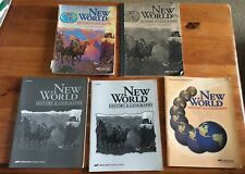 Abeka New World History Geography 3e. Set Lot Grade 6 Keys Beka Teacher Student