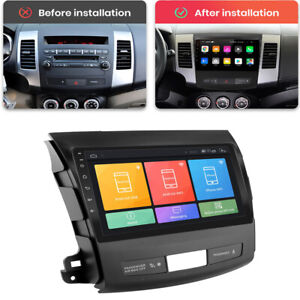For 06-12 Mitsubishi Outlander xl 2 Stereo Radio 9'' Android 10.1 Head Unit GPS